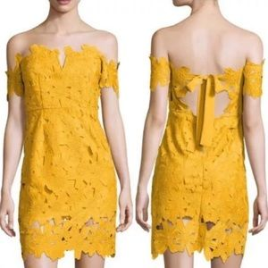 Few Moda Anthropologie Alison Dress Off Shoulder M